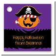 Jack O Lantern Pirate - Personalized Halloween Card Stock Favor Tags thumbnail