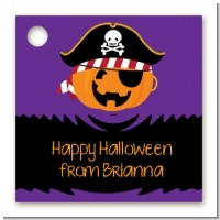 Jack O Lantern Pirate - Personalized Halloween Card Stock Favor Tags
