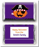 Jack O Lantern Pirate - Personalized Halloween Mini Candy Bar Wrappers