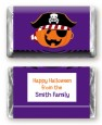 Jack O Lantern Pirate - Personalized Halloween Mini Candy Bar Wrappers thumbnail