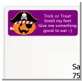 Jack O Lantern Pirate - Halloween Return Address Labels thumbnail