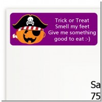 Jack O Lantern Pirate - Halloween Return Address Labels