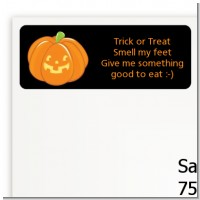 Jack O Lantern - Halloween Return Address Labels