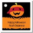 Jack O Lantern Superhero - Personalized Halloween Card Stock Favor Tags thumbnail