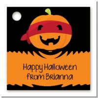 Jack O Lantern Superhero - Personalized Halloween Card Stock Favor Tags