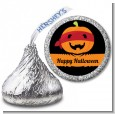 Jack O Lantern Superhero - Hershey Kiss Halloween Sticker Labels thumbnail