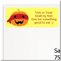 Jack O Lantern Superhero - Halloween Return Address Labels
