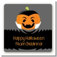 Jack O Lantern Vampire - Square Personalized Halloween Sticker Labels thumbnail