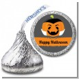 Jack O Lantern Vampire - Hershey Kiss Halloween Sticker Labels thumbnail