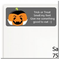 Jack O Lantern Vampire - Halloween Return Address Labels
