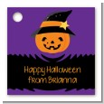 Jack O Lantern Witch - Personalized Halloween Card Stock Favor Tags thumbnail