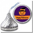 Jack O Lantern Witch - Hershey Kiss Halloween Sticker Labels thumbnail