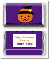 Jack O Lantern Witch - Personalized Halloween Mini Candy Bar Wrappers