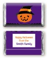 Jack O Lantern Witch - Personalized Halloween Mini Candy Bar Wrappers thumbnail