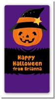 Jack O Lantern Witch - Custom Rectangle Halloween Sticker/Labels