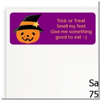 Jack O Lantern Witch - Halloween Return Address Labels