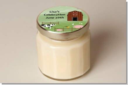 Nursery Rhyme - Old McDonald - Baby Shower Personalized Candle Jar