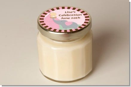 Our Little Peanut Girl - Baby Shower Personalized Candle Jar