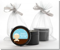 Jewish Baby Boy - Baby Shower Black Candle Tin Favors