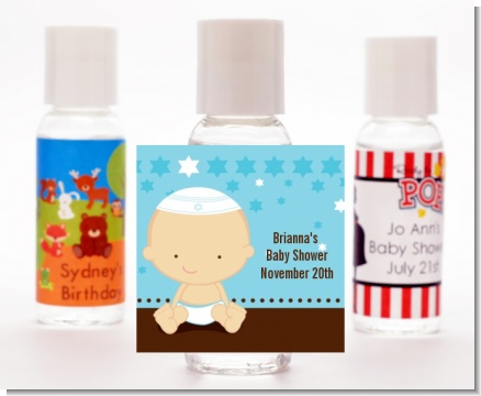 Jewish Baby Boy - Personalized Baby Shower Hand Sanitizers Favors