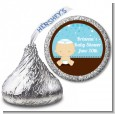 Jewish Baby Boy - Hershey Kiss Baby Shower Sticker Labels thumbnail