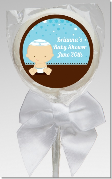 Jewish Baby Boy - Personalized Baby Shower Lollipop Favors