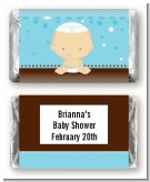Jewish Baby Boy - Personalized Baby Shower Mini Candy Bar Wrappers