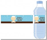 Jewish Baby Boy - Personalized Baby Shower Water Bottle Labels
