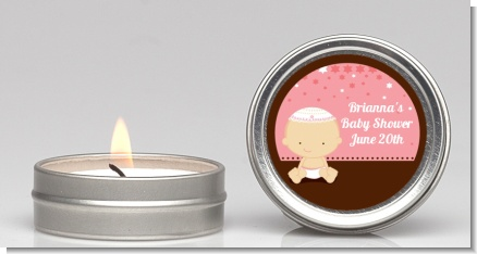 Jewish Baby Girl - Baby Shower Candle Favors