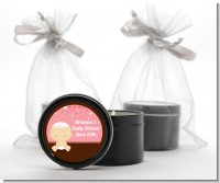 Jewish Baby Girl - Baby Shower Black Candle Tin Favors