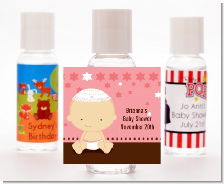 Jewish Baby Girl - Personalized Baby Shower Hand Sanitizers Favors
