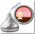 Jewish Baby Girl - Hershey Kiss Baby Shower Sticker Labels thumbnail