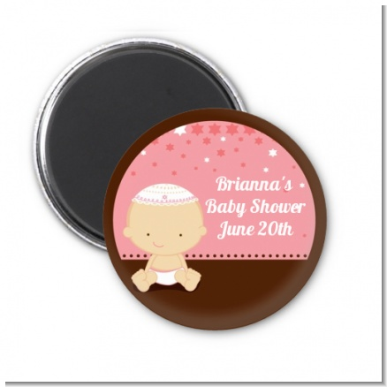 Jewish Baby Girl - Personalized Baby Shower Magnet Favors