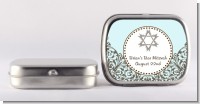 Jewish Star of David Blue & Brown - Personalized Bar / Bat Mitzvah Mint Tins