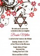 Jewish Star Of David Floral Blossom - Bar / Bat Mitzvah Invitations thumbnail