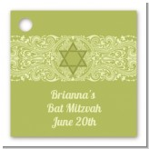 Jewish Star of David Sage Green - Personalized Bar / Bat Mitzvah Card Stock Favor Tags