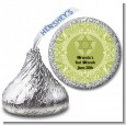 Jewish Star of David Sage Green - Hershey Kiss Bar / Bat Mitzvah Sticker Labels thumbnail