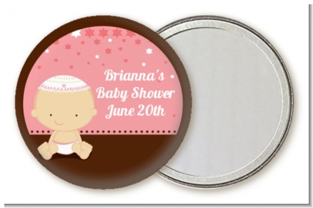 Jewish Baby Girl - Personalized Baby Shower Pocket Mirror Favors