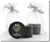 Joy Oh Deer Gold Glitter - Christmas Black Candle Tin Favors