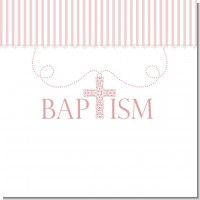 Pink Cross Necklace Baptism Ideas