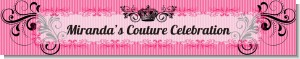 Juicy Couture Inspired - Personalized Birthday Party Banners