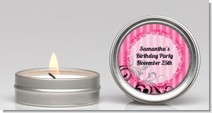 Juicy Couture Inspired - Birthday Party Candle Favors