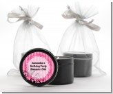 Juicy Couture Inspired - Birthday Party Black Candle Tin Favors