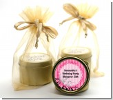 Juicy Couture Inspired - Birthday Party Gold Tin Candle Favors