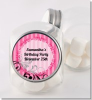 Juicy Couture Inspired - Personalized Birthday Party Candy Jar