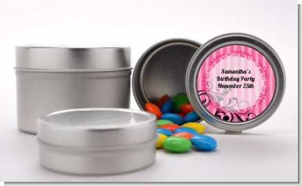Juicy Couture Inspired - Custom Birthday Party Favor Tins