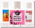 Juicy Couture Inspired - Personalized Birthday Party Hand Sanitizers Favors thumbnail