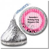 Juicy Couture Inspired - Hershey Kiss Birthday Party Sticker Labels