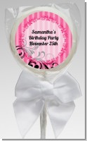 Juicy Couture Inspired - Personalized Birthday Party Lollipop Favors