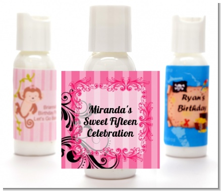 Juicy Couture Inspired - Personalized Birthday Party Lotion Favors
